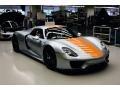 Liquid Metal Chrome Blue 2015 Porsche 918 Spyder with Weissach Package