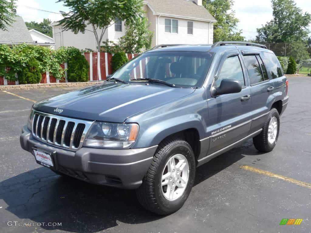 2002 steel blue pearlcoat jeep grand cherokee laredo 4x4 #13010663