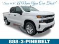 2019 Summit White Chevrolet Silverado 1500 Custom Crew Cab 4WD  photo #1