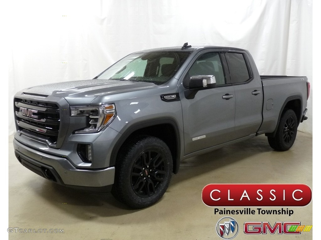 2019 Satin Steel Metallic Gmc Sierra 1500 Elevation Double