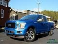 2019 Velocity Blue Ford F150 STX SuperCab 4x4  photo #1