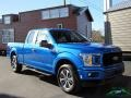 2019 Velocity Blue Ford F150 STX SuperCab 4x4  photo #8