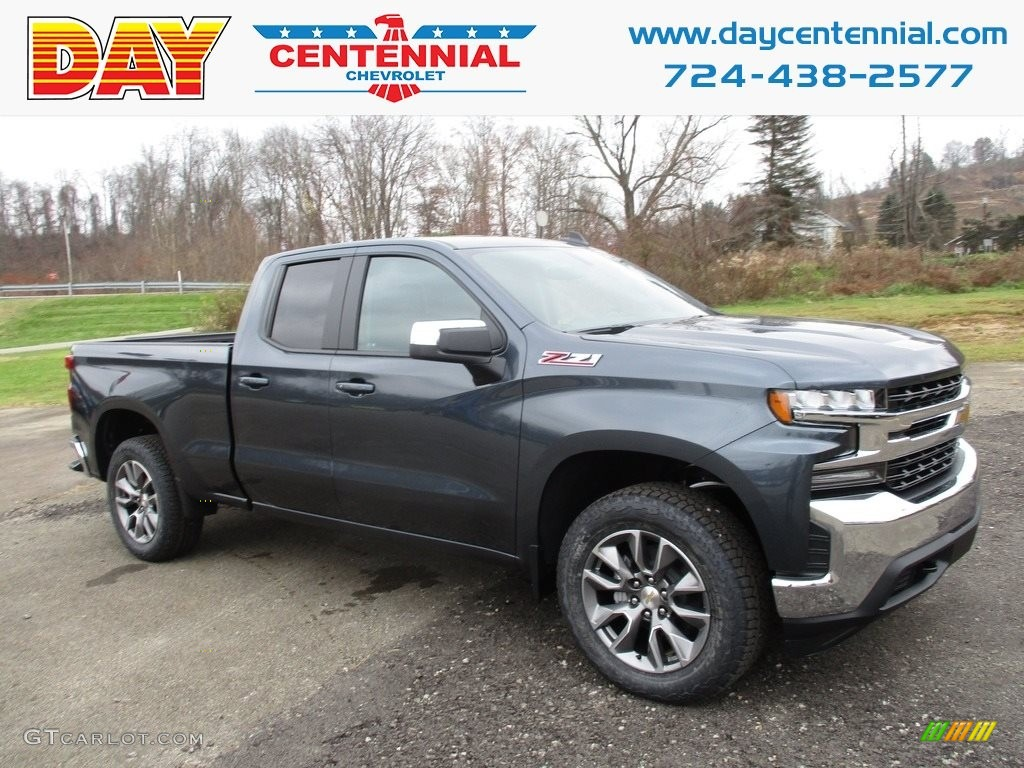 2019 Silverado 1500 LT Z71 Double Cab 4WD - Shadow Gray Metallic / Jet Black photo #1