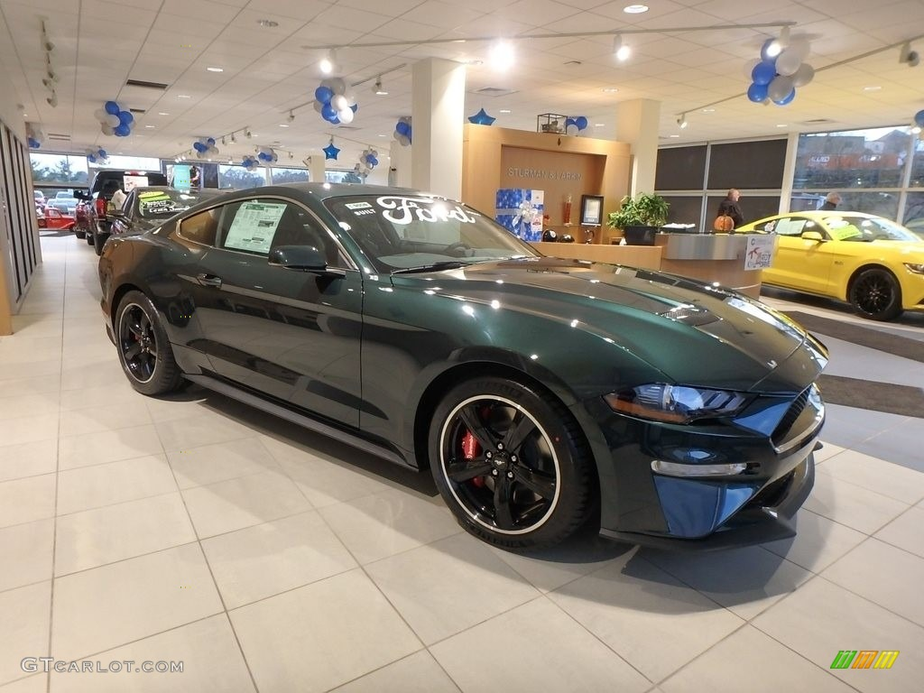 2019 Mustang Bullitt - Dark Highland Green / Ebony/Recaro Leather Trimmed photo #1