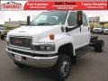Summit White - C Series Topkick C5500 Crew Cab 4x4 Chassis Photo No. 3