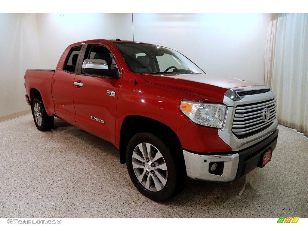 2016 Tundra Limited CrewMax 4x4 - Barcelona Red Metallic / Graphite photo #1