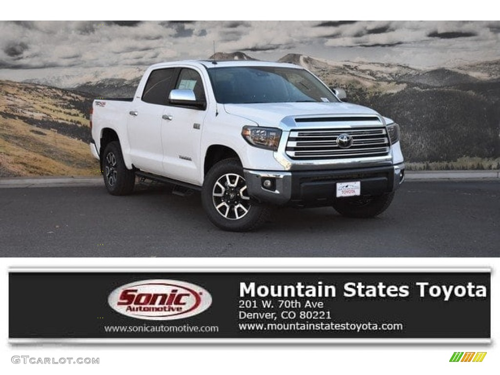 2019 Tundra Limited CrewMax 4x4 - Super White / Black photo #1