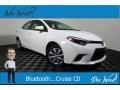 Super White 2016 Toyota Corolla LE