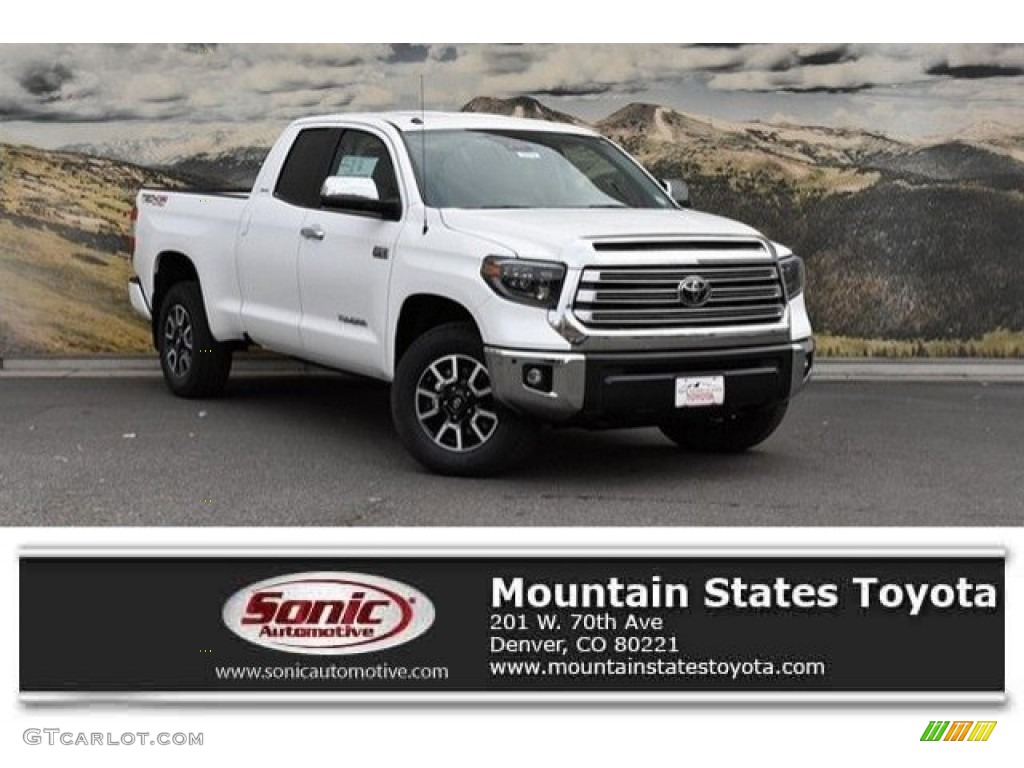 2019 Tundra Limited Double Cab 4x4 - Super White / Graphite photo #1