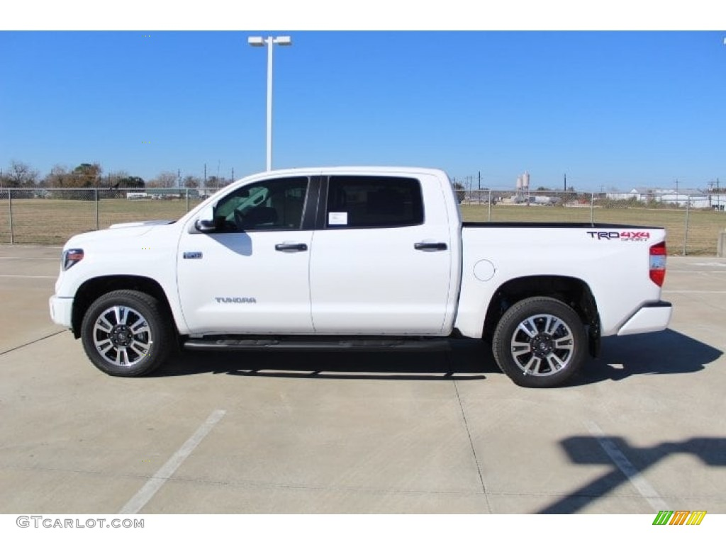 2019 Tundra SR5 CrewMax 4x4 - Super White / Graphite photo #6