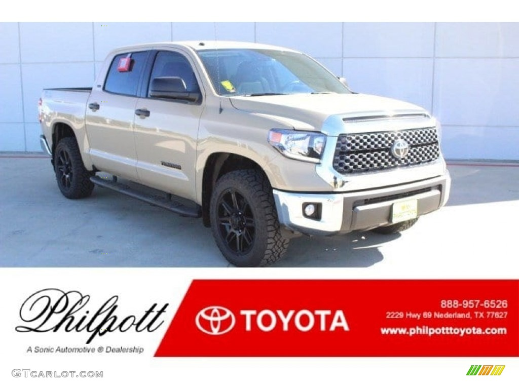 2019 Tundra TSS Off Road CrewMax - Quicksand / Black photo #1