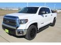 2019 Super White Toyota Tundra TSS Off Road CrewMax  photo #4