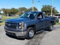 2014 Blue Granite Metallic Chevrolet Silverado 1500 WT Regular Cab #130770933