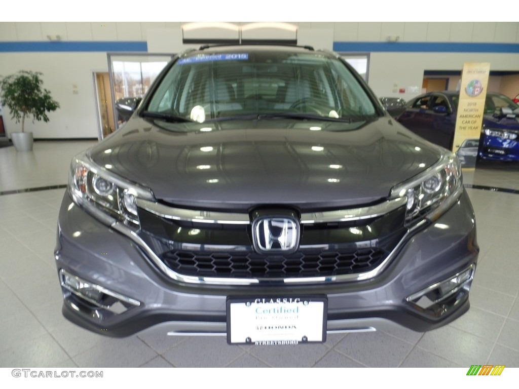 2015 CR-V Touring AWD - Modern Steel Metallic / Gray photo #13
