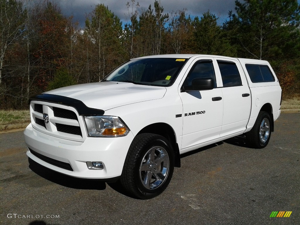 2012 Ram 1500 Express Crew Cab 4x4 - Bright White / Dark Slate Gray/Medium Graystone photo #2