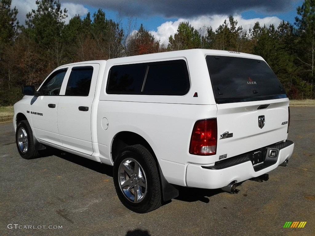 2012 Ram 1500 Express Crew Cab 4x4 - Bright White / Dark Slate Gray/Medium Graystone photo #8