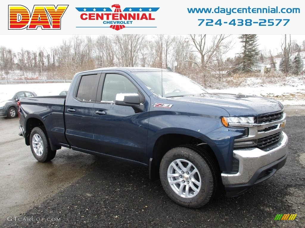 2019 Silverado 1500 LT Z71 Double Cab 4WD - Northsky Blue Metallic / Jet Black photo #1