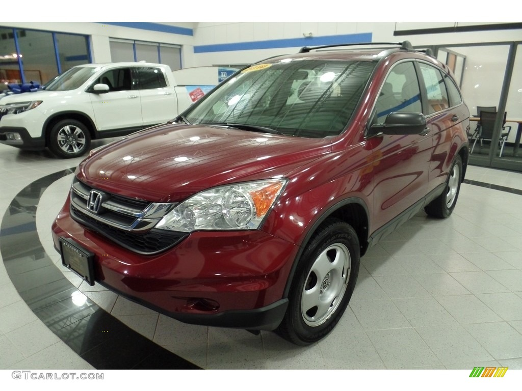 2010 CR-V LX AWD - Tango Red Pearl / Gray photo #1