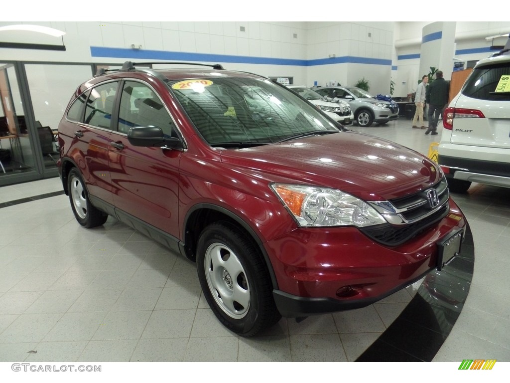 2010 CR-V LX AWD - Tango Red Pearl / Gray photo #3