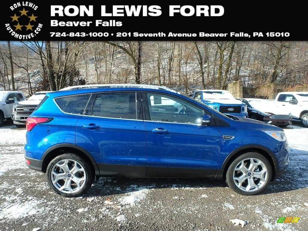 2019 Escape Titanium 4WD - Lightning Blue / Chromite Gray/Charcoal Black photo #1