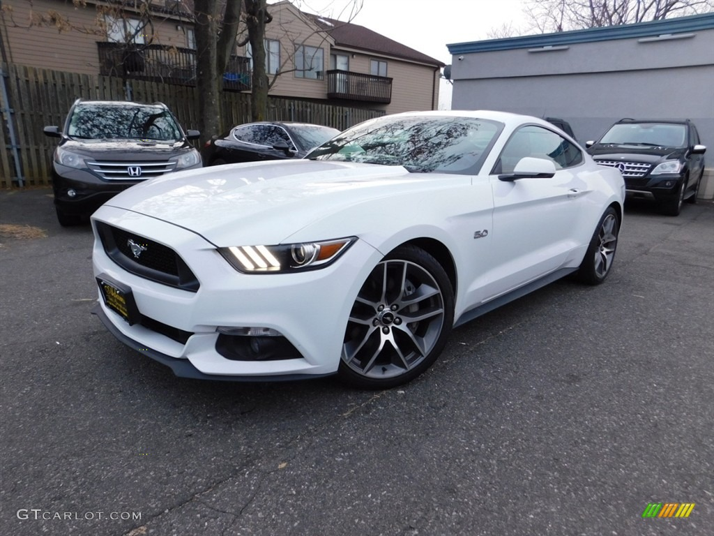 2016 Mustang GT Premium Coupe - Oxford White / Red Line photo #1