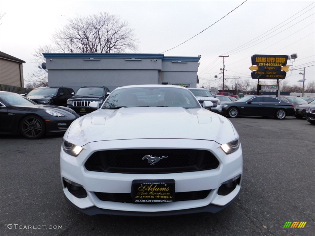 2016 Mustang GT Premium Coupe - Oxford White / Red Line photo #2