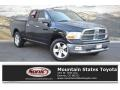2009 Brilliant Black Crystal Pearl Dodge Ram 1500 SLT Quad Cab 4x4 #130814796