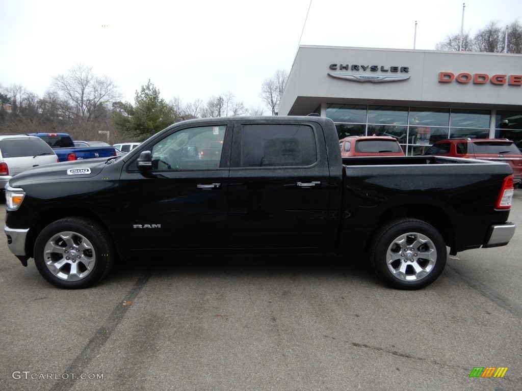 2019 1500 Big Horn Crew Cab 4x4 - Black Forest Green Pearl / Black/Light Mountain Brown photo #2