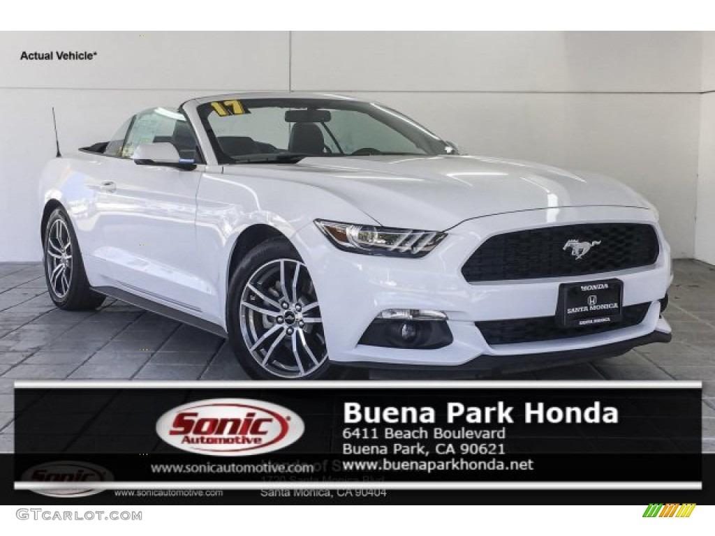 2017 Mustang EcoBoost Premium Convertible - Oxford White / Ebony photo #1