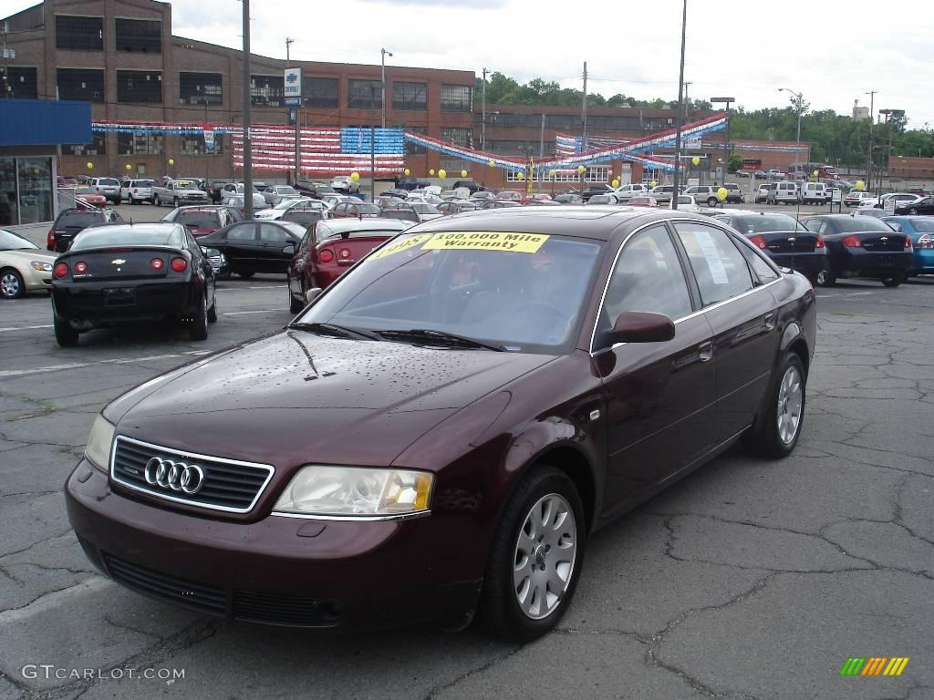 1998 hibiscus red pearl audi a6 2.8 quattro sedan #13075446 photo