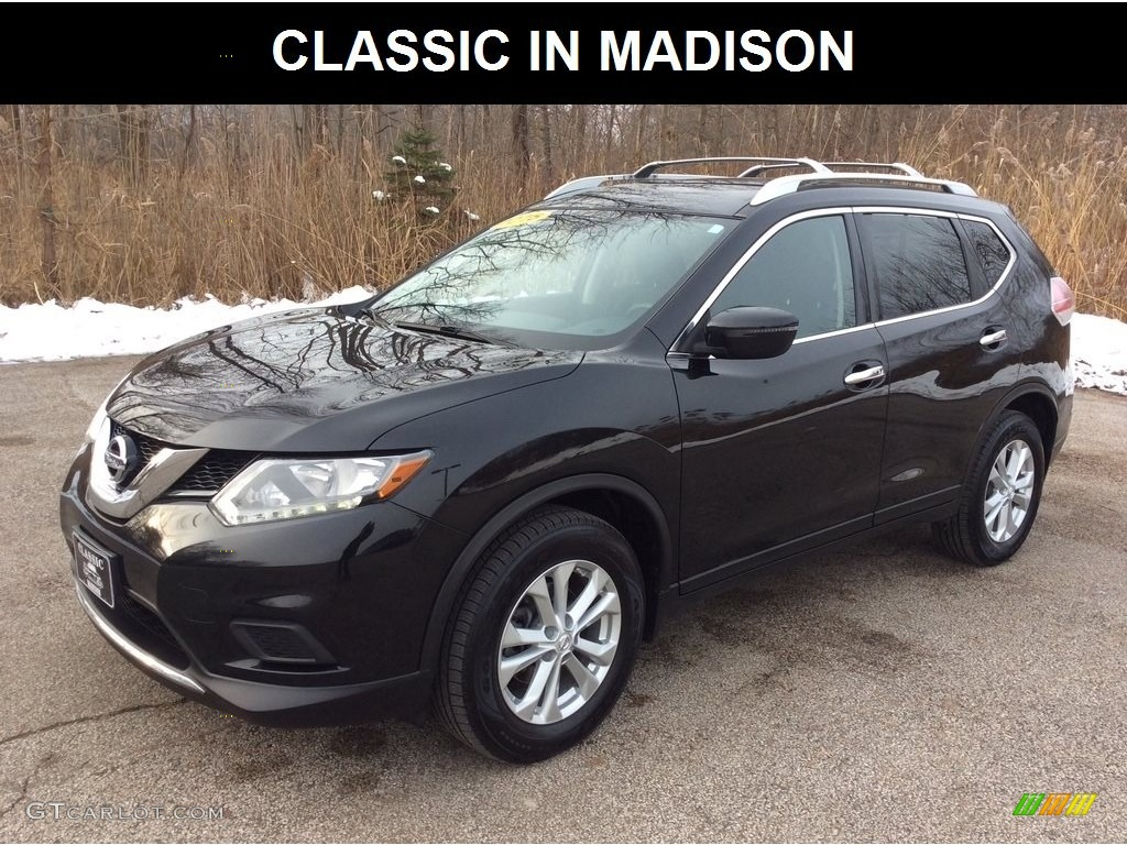 2016 Magnetic Black Nissan Rogue Sv Awd 130889423