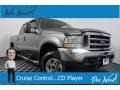 2003 Dark Shadow Grey Metallic Ford F250 Super Duty Lariat Crew Cab 4x4  photo #1