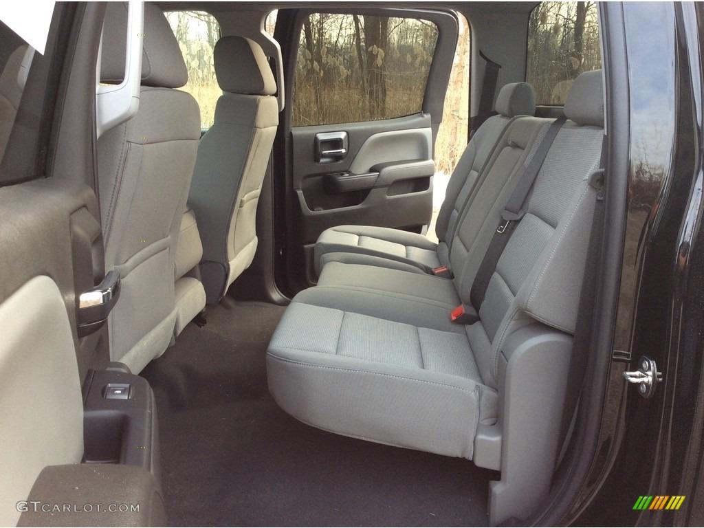 2018 Silverado 1500 Custom Crew Cab 4x4 - Black / Dark Ash/Jet Black photo #15