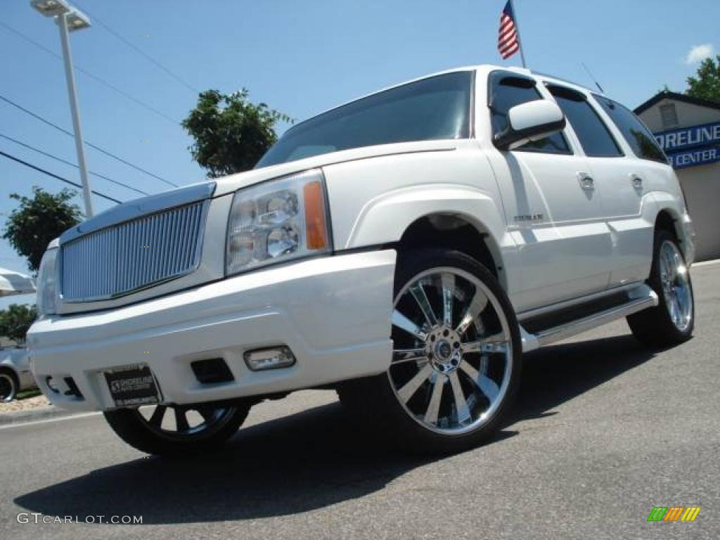 White diamond cadillac escalade cadillac escalade awd