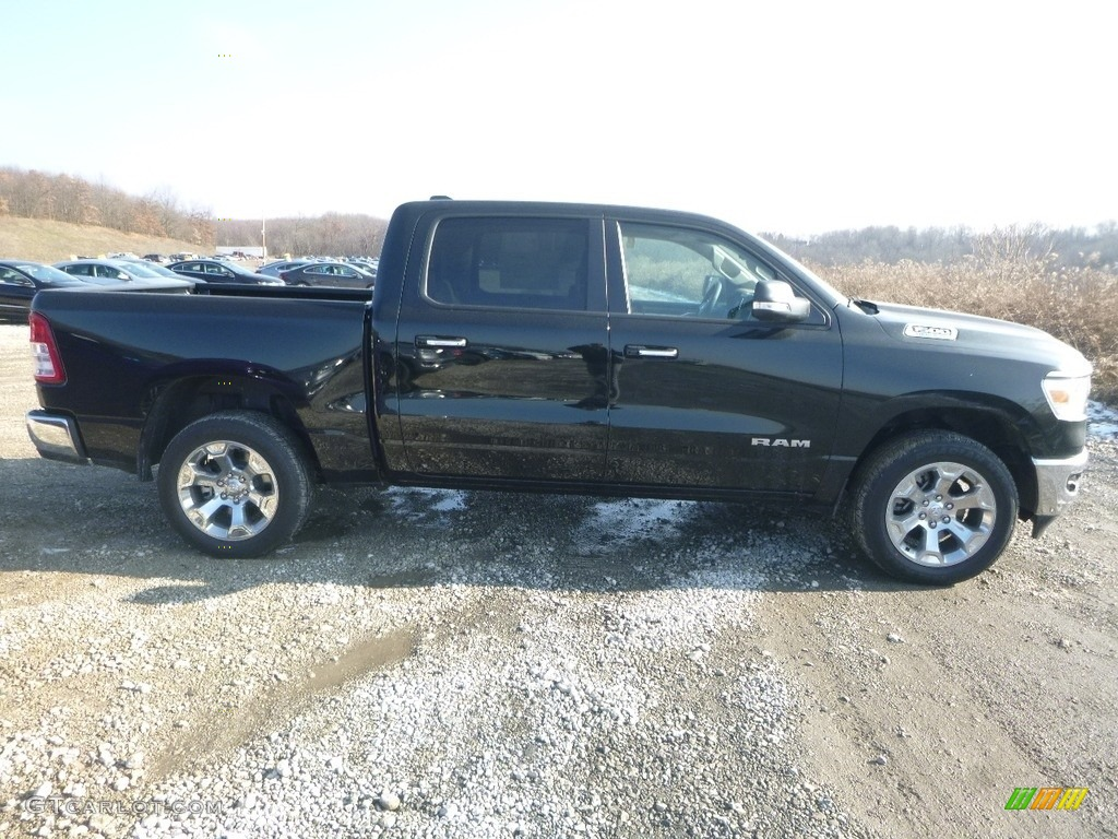 2019 1500 Big Horn Crew Cab 4x4 - Black Forest Green Pearl / Black/Light Mountain Brown photo #7