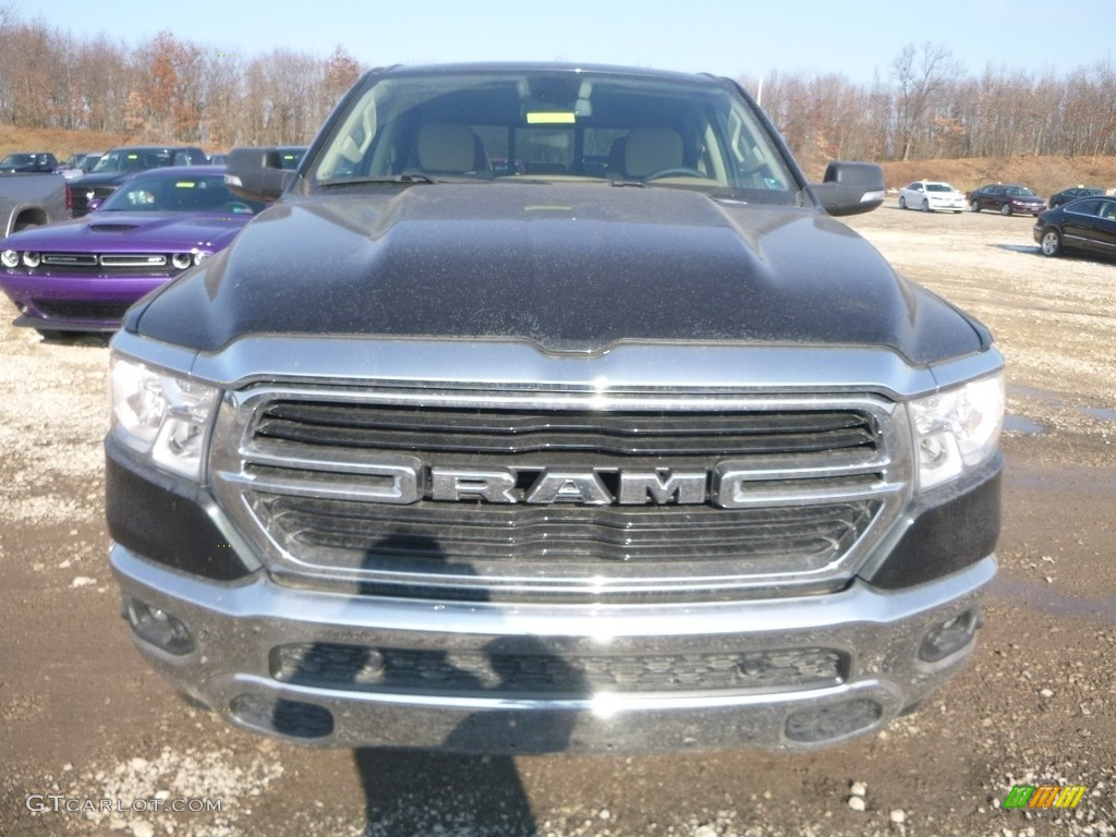 2019 1500 Big Horn Crew Cab 4x4 - Black Forest Green Pearl / Black/Light Mountain Brown photo #9