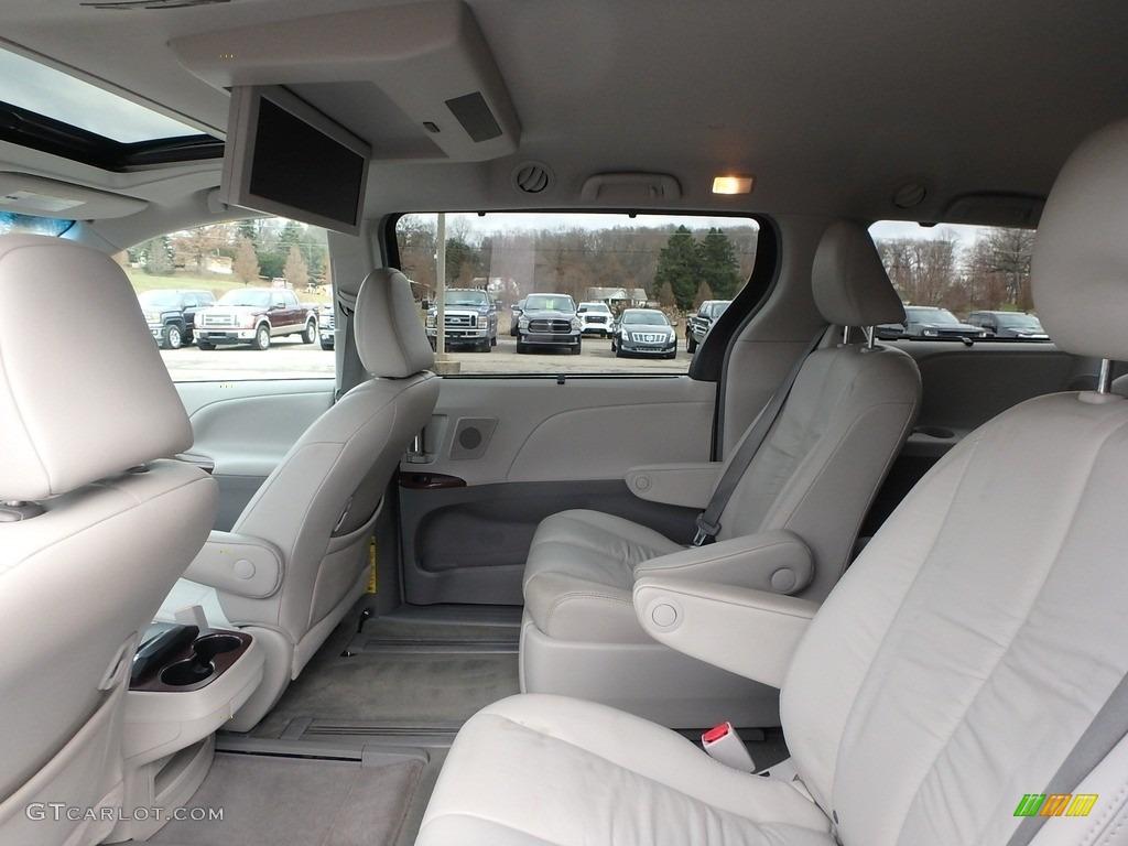 2011 Sienna XLE AWD - Predawn Gray Mica / Light Gray photo #14