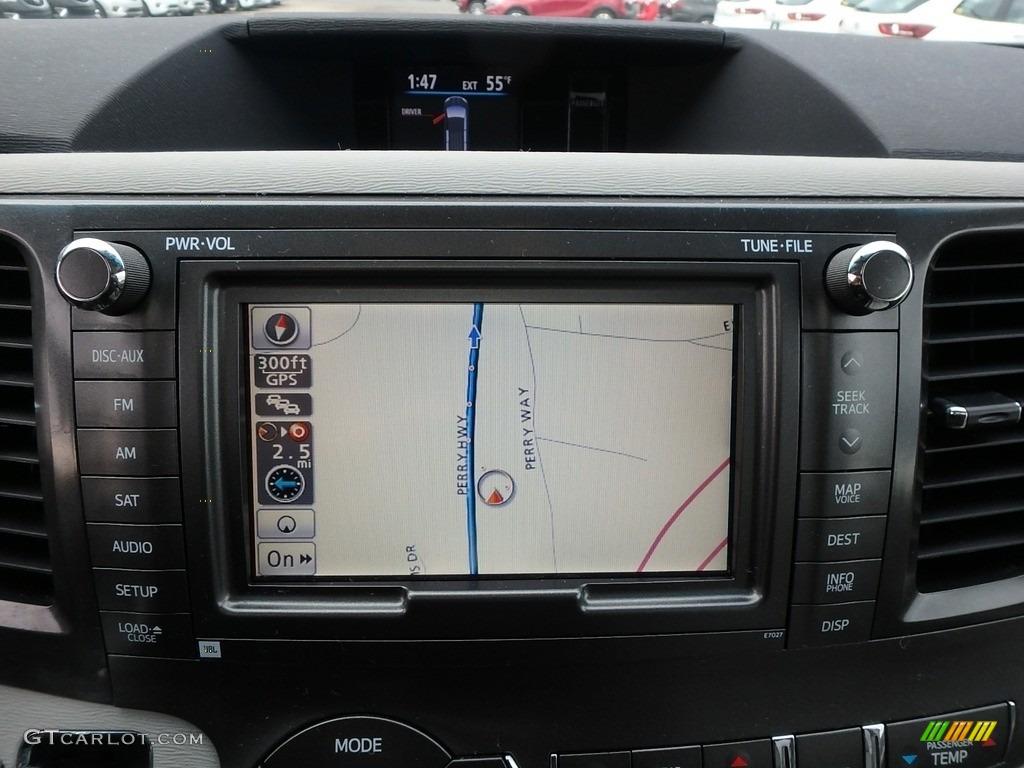 2011 Sienna XLE AWD - Predawn Gray Mica / Light Gray photo #26