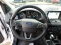 Chromite Gray/Charcoal Black Steering Wheel Photo for 2019 Ford Escape #130958403