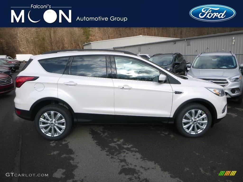 2019 Escape SEL 4WD - White Platinum / Chromite Gray/Charcoal Black photo #1