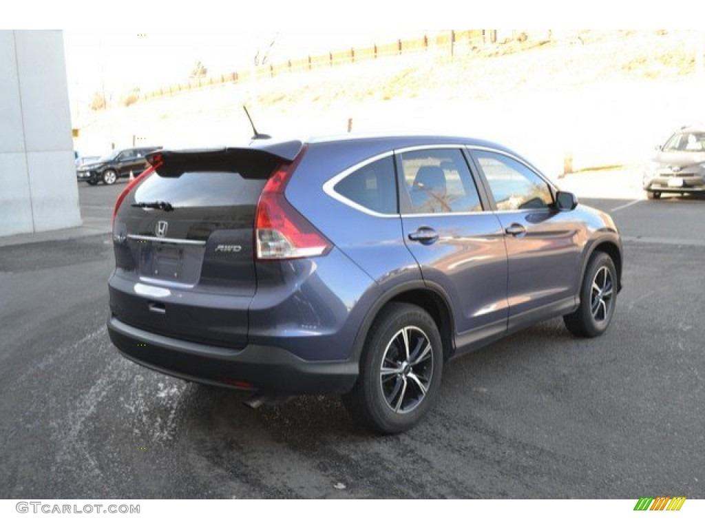 2013 CR-V EX-L AWD - Twilight Blue Metallic / Beige photo #6