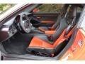 Black/Lava Orange Front Seat Photo for 2016 Porsche 911 #131022126