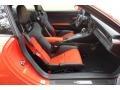 Black/Lava Orange Front Seat Photo for 2016 Porsche 911 #131022150
