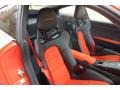 Black/Lava Orange Front Seat Photo for 2016 Porsche 911 #131022165