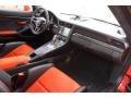 Black/Lava Orange Dashboard Photo for 2016 Porsche 911 #131022186