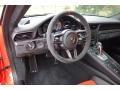 Black/Lava Orange Steering Wheel Photo for 2016 Porsche 911 #131022207
