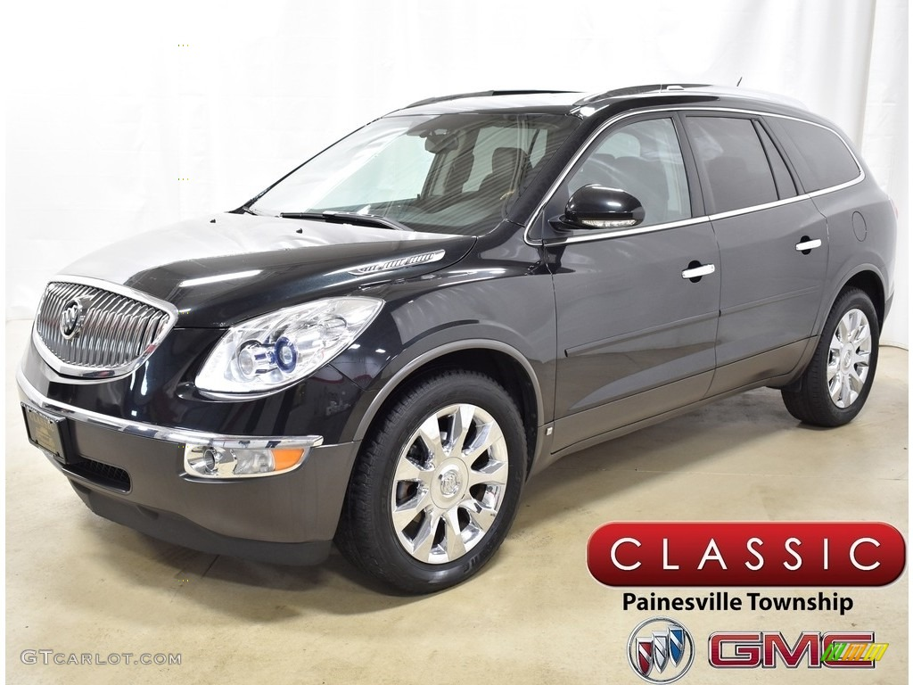 2010 Enclave CXL AWD - Carbon Black Metallic / Ebony/Ebony photo #1