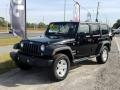 Black 2015 Jeep Wrangler Unlimited Sport 4x4