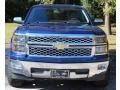 2014 Blue Topaz Metallic Chevrolet Silverado 1500 LTZ Crew Cab  photo #2