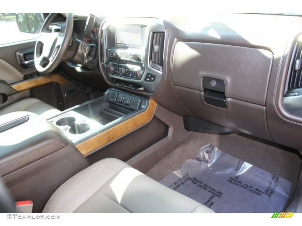 2014 Silverado 1500 LTZ Crew Cab - Blue Topaz Metallic / Cocoa/Dune photo #28